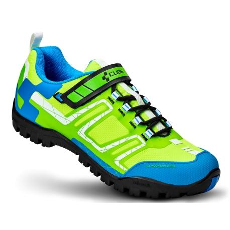 consegna gratuita economico in vendita belle scarpe CUBE SCARPE MTB ALL MOUNTAIN COLORE GREEN/WHITE/BLU - e-shop