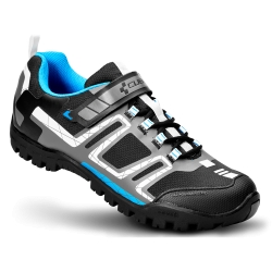 SCARPE MTB CUBE ALL MOUNTAIN BLACK/WHITE/BLU  2015
