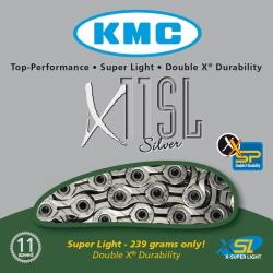 KMC CATENA X11SL SUPER LIGHT 11 VELOCITA' COLORE ARGENTO