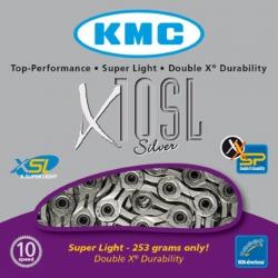 KMC CATENA X11SL SUPER LIGHT 10 VELOCITA' COLORE ARGENTO
