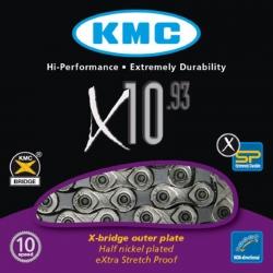 KMC CATENA X10.93 10 VELOCITA' COLORE ARGENTO/GRIGIO
