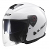LS2 CASCO JET OF521 INFINITY SOLID COLORE BIANCO LUCIDO