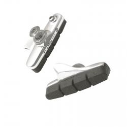 ASHIMA Coppia portapattini + pattini freno corsa shimano® 54 mm silver