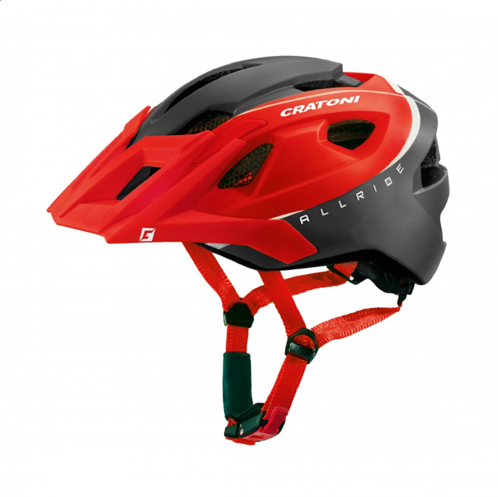 rosso//nero opaco Cratoni Casco Bicicletta Bicicletta Casco AllRide MTB 53-59cm UNI