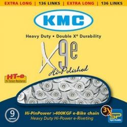 KMC CATENA X9E PER BICICLETTE ELETTRICHE - 136 MAGLIE