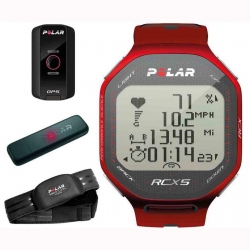POLAR CARDIOFREQUENZIMETRO RCX5 CON SENSORE GPS G5 COLORE RED-ORANGE