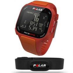 POLAR CARDIOFREQUENZIMETRO RC3 GPS CON FASCIA CARDIO COLORE RED/ORANGE