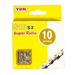 YBN S10S2 CATENA BICI PER  MTB E CORSA 10 VELOCITA' 116 MAGLIE