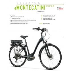 """LOMBARDO BICI ELETTRICA E-MONTECATINI SPORT 8.0 28"""" BOSCH PERFORMANCE 500 WH 2018"""