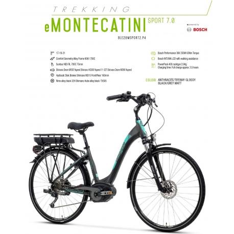 """LOMBARDO BICI ELETTRICA E-MONTECATINI SPORT 7.0 28"""" BOSCH PERFORMANCE 400 WH 2018"""