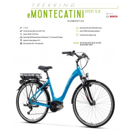 """LOMBARDO BICI ELETTRICA E-MONTECATINI SPORT 6.0 28"""" BOSCH ACTIVE PLUS 400 WH 2018"""