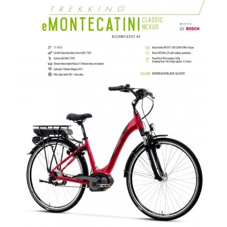 """LOMBARDO BICI ELETTRICA E-MONTECATINI CLASSIC NEXUS 28"""" BOSCH ACTIVE 400 WH 2018"""
