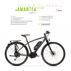 "LOMBARDO BICI ELETTRICA E-AMANTEA  CITY MAN 28"" BOSCH PERFORMANCE 400 WH 45 KM/H 2018"