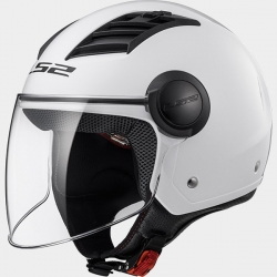 LS2 CASCO JET OF562  AIRFLOW COLORE BIANCO LUCIDO