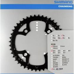 SHIMANO CORONA  44 DENTI FC-M540 GIROBULLONI 104 MM COLORE NERO