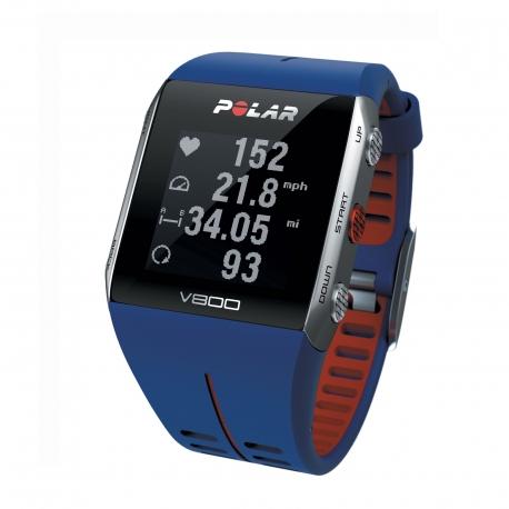 POLAR CARDIOFREQUENZIMETRO GPS V800 COLORE BLU/RED