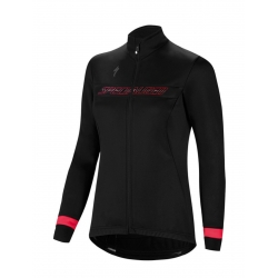 SPECIALIZED GIUBBINO DONNA ELEMENT RBX SPORT LOGO COLORE NERO/ROSA