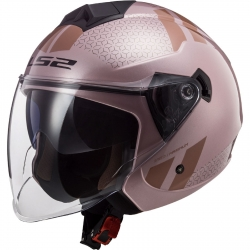 LS2 CASCO JET OF573 TWISTER COMBO COLORE ROSA