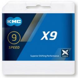 KMC CATENA X9.93 9 VELOCITA' COLORE ARGENTO/GRIGIO