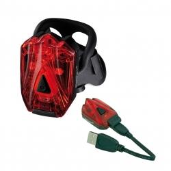 """INFINI FANALE POSTERIORE """"LAVA"""" 3 LED ROSSI USB"""