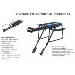 BRN BERNARDI PORTAPACCO POSTERIORE WILD AL REGGISELLAIN ALLUMINIO NERO