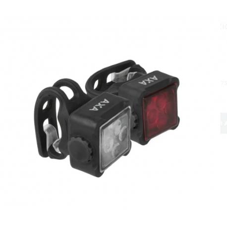 AXA KIT LUCI NITELINE 44R – FANALE ANTERIORE E POSTERIORE CON 4 LED, RICARICA USB